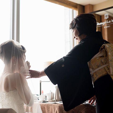 Photograph, Ceremony, Wedding, Wedding dress, Snapshot, Shoulder, Hairstyle, Dress, Bridal clothing, Bride,
