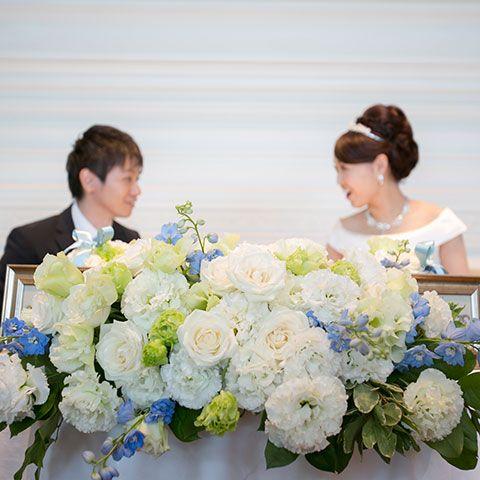 Blue, Flower Arranging, Photograph, White, Floristry, Bouquet, Flower, Floral design, Bride, Ceremony,