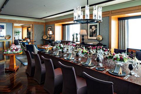 Restaurant, Room, Dining room, Building, Brunch, Table, Function hall, Rehearsal dinner, Interior design, Banquet,