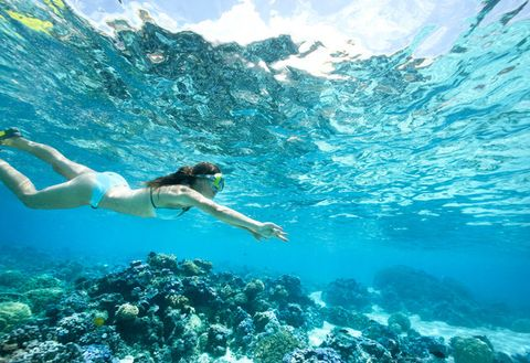 Underwater, Water, Snorkeling, Swimming, Recreation, Natural environment, Sky, Freediving, Fun, Sea,