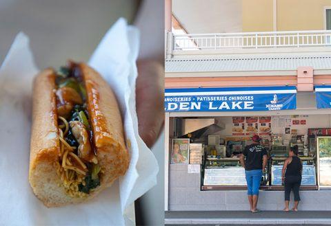 Fast food, Food, Dish, Cuisine, Bánh mì, Hot dog bun, Chili dog, Ingredient, Take-out food, Junk food,