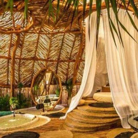 Resort, Property, Interior design, Room, Tree, Building, Real estate, Suite, Eco hotel, Restaurant,