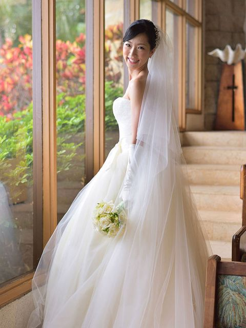 Gown, Bride, Wedding dress, Dress, Clothing, Bridal clothing, Shoulder, Bridal party dress, Photograph, Bridal accessory,