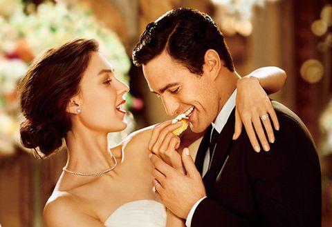Photograph, Romance, Love, Interaction, Bride, Wedding, Bridal clothing, Ceremony, Happy, Wedding dress,