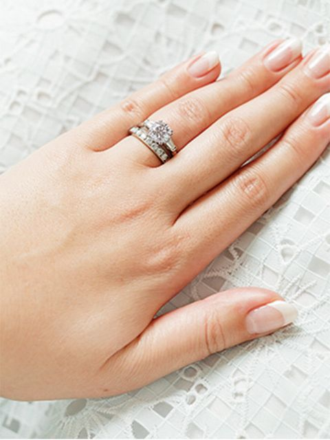 Ring, Finger, Nail, Engagement ring, Hand, Fashion accessory, Skin, Jewellery, Manicure, Wedding ring,
