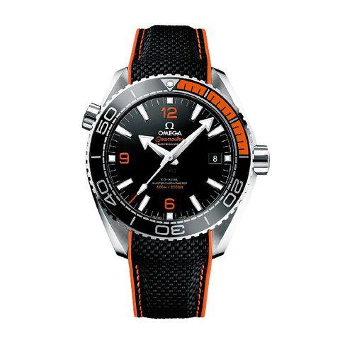 Watch, Analog watch, Watch accessory, Strap, Fashion accessory, Orange, Jewellery, Brand, Material property, Steel,