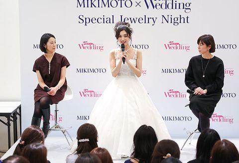Fashion, Dress, Hairstyle, Event, Bride, Fashion design, Ceremony, Gown, Wedding dress, Fashion accessory,