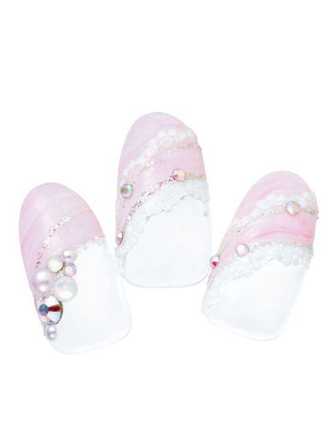Shoe, Pink, Magenta, Lavender, Violet, Ballet flat, Peach, Nail care, Silver, Natural material,