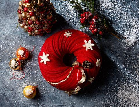 Red, Christmas decoration, Wreath, Christmas ornament, Interior design, Still life photography, Still life, Christmas, Holiday,