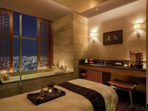 Lighting, Room, Interior design, Property, Wall, Furniture, Bed, Linens, Interior design, Drawer,