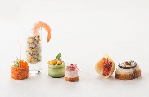 Food, Dish, Cuisine, Hors d'oeuvre, Canapé, Finger food, À la carte food, Sushi, appetizer, Dessert,