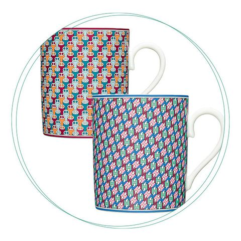 Drinkware, Mug, Tableware, Serveware, Line, Dinnerware set, Teacup, Dishware, Pattern, Cup,