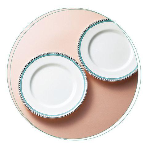 Dishware, Plate, Saucer, Dinnerware set, Tableware, Serveware, Aqua, Platter, Porcelain, Teacup,