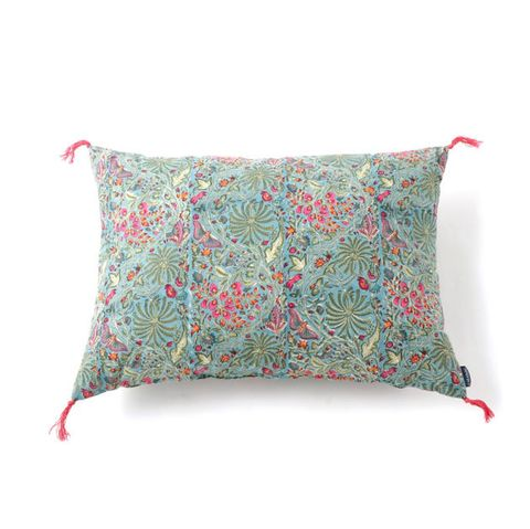 Pillow, Cushion, Throw pillow, Furniture, Turquoise, Textile, Leaf, Linens, Home accessories, Bedding,