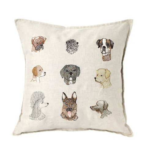 French bulldog, Pillow, Cushion, Throw pillow, Furniture, Canidae, Bulldog, Textile, Linens, Schnauzer,