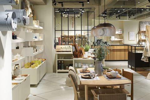 Interior design, Room, Building, Lighting, Furniture, Table, Ceiling, Design, Architecture, Dining room,