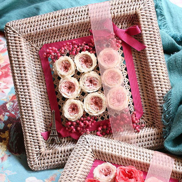 Textile, Pink, Petal, Magenta, Pattern, Home accessories, Linens, Peach, Flowering plant, Craft,