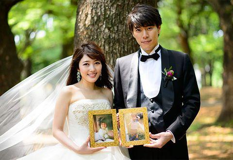 Bride, Photograph, Wedding dress, Ceremony, Wedding, Formal wear, Dress, Bridal clothing, Marriage, Gown,
