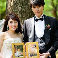 Photograph, Bride, Wedding dress, Formal wear, Ceremony, Suit, Dress, Wedding, Bridal clothing, Gown,