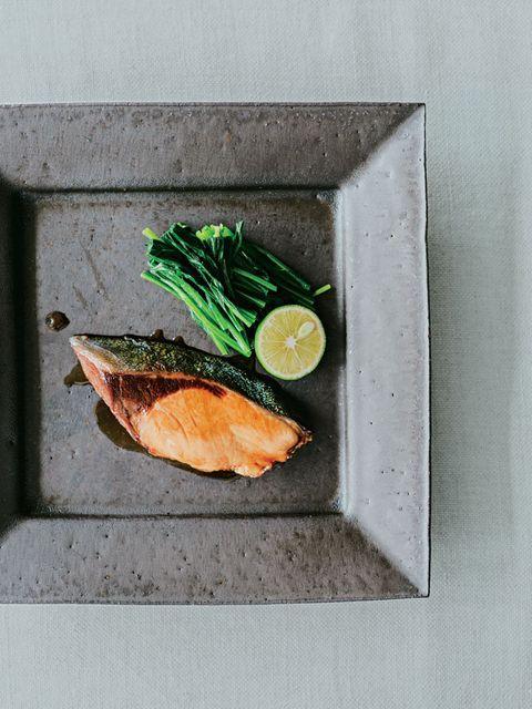 焼き鮭とほうれん草
