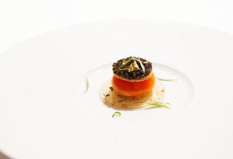 Food, Dish, Cuisine, Garnish, À la carte food, Ingredient, Culinary art, Hors d'oeuvre, Flan, Recipe,