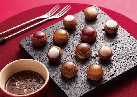 Food, Cuisine, Dish, Dessert, Mozartkugel, Ingredient, Bourbon ball, Praline, Chocolate, Produce,