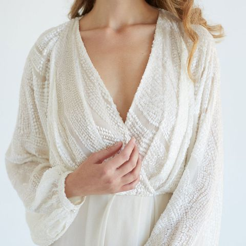 Clothing, White, Robe, Outerwear, Neck, Cardigan, Nightwear, Wrap, Sleeve, Sweater,