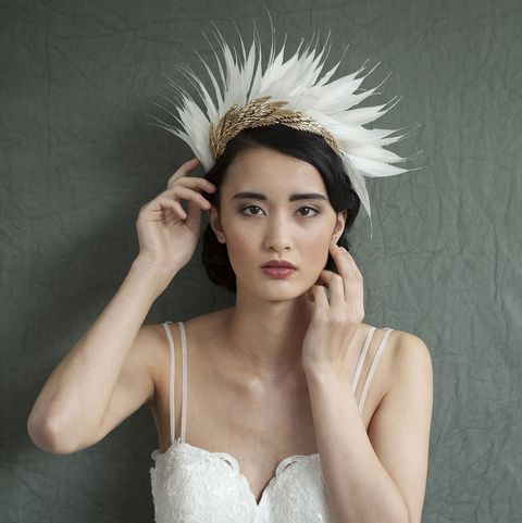 Headpiece, Hair, Hair accessory, Clothing, Feather, Beauty, Head, Hairstyle, Skin, Fashion accessory,