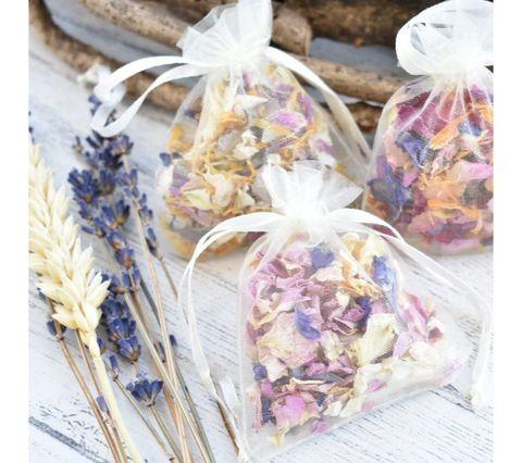 Lavender, Party favor, Wedding favors, Flower, Potpourri, Petal, Plant, Present, Lavender, Food,