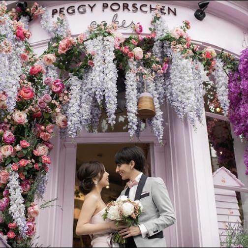 Photograph, Arch, Flower Arranging, Floral design, Flower, Architecture, Floristry, Pink, Ceremony, Plant,