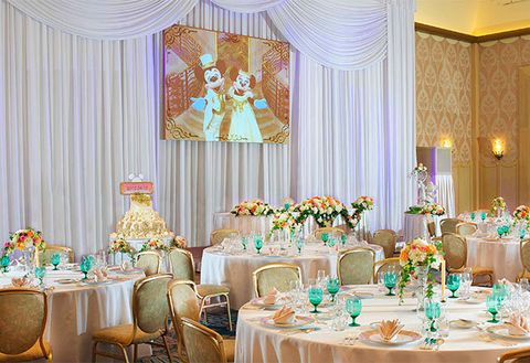 Tablecloth, Interior design, Decoration, Function hall, Textile, Furniture, Table, Linens, Room, Interior design,
