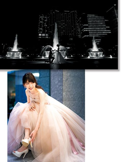 Photograph, White, Dress, Veil, Beauty, Bride, Wedding dress, Bridal veil, Pink, Gown,