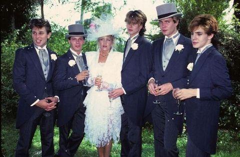 Photograph, People, Suit, Formal wear, Event, Tuxedo, Ceremony, Wedding, Fun, Dress,