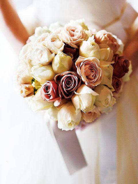 Petal, Brown, Yellow, Bouquet, Flower, Cut flowers, Pink, Peach, Flowering plant, Rose family,