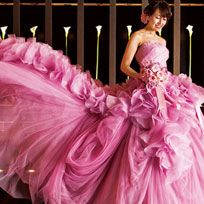 Clothing, Dress, Textile, Pink, Magenta, Formal wear, Gown, Purple, Fashion, Costume design,