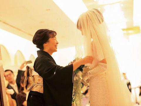 Bridal veil, Happy, Bridal clothing, Veil, Wedding dress, Bride, Ceremony, Luggage and bags, Marriage, Bridal accessory,