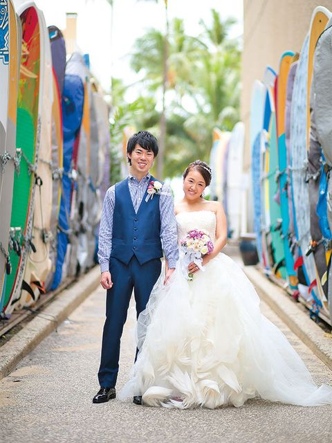 Clothing, Blue, Trousers, Bridal clothing, Coat, Textile, Photograph, Outerwear, Surfing Equipment, Dress,