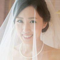 Brown, Hairstyle, Bridal veil, Skin, Forehead, Bridal accessory, Veil, Eyebrow, Photograph, Bridal clothing,
