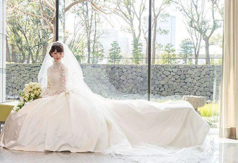 Gown, Wedding dress, Bride, Dress, Clothing, Photograph, Bridal clothing, Bridal party dress, Shoulder, Bridal accessory,