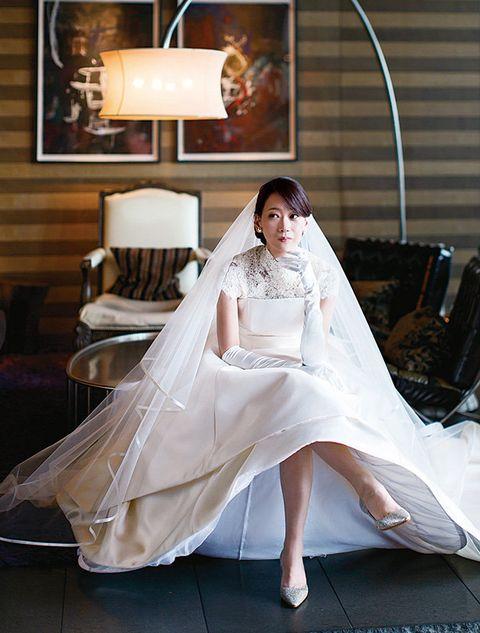 Photograph, Bride, Bridal accessory, Wedding dress, Veil, Dress, Bridal clothing, Gown, Bridal veil, Beauty,