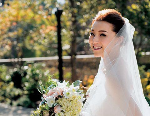 Bride, Wedding dress, Photograph, Veil, White, Gown, Dress, Bridal accessory, Bridal veil, Bridal clothing,