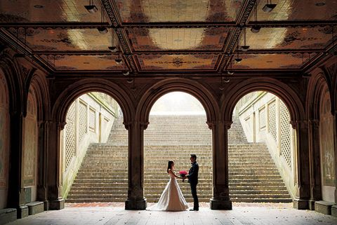 Architecture, Ceiling, Dress, Arch, Arcade, Column, Stairs, Vault, Wedding dress, Symmetry,