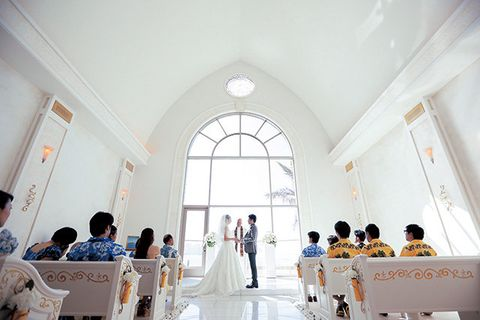 Interior design, Ceiling, Dress, Furniture, Bridal clothing, Ceremony, Tradition, Place of worship, Wedding dress, Hall,