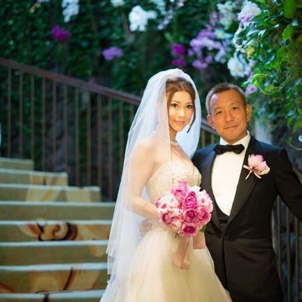 Bride, Photograph, Wedding dress, Veil, Gown, Ceremony, Bridal clothing, Wedding, Dress, Pink,