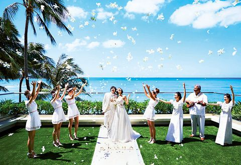 Photograph, Ceremony, Sky, Wedding, Event, Bride, Wedding dress, Vacation, Dress, Fun,