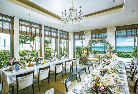 Room, Restaurant, Property, Building, Dining room, Interior design, Real estate, Banquet, Ceiling, Resort,