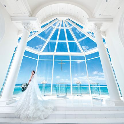 Photograph, Blue, White, Architecture, Dress, Building, Room, Ceiling, Chapel, Daylighting,