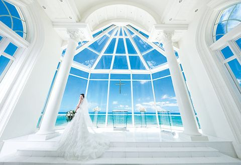 Photograph, Blue, White, Architecture, Building, Dress, Chapel, Daylighting, Ceiling, Room,