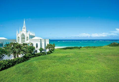 Sky, Green, Blue, Grass, Property, Sea, Daytime, Shore, Ocean, Lawn,