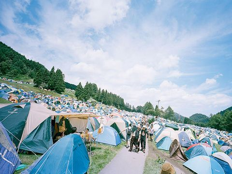Camping, Tent, Style, Sunlight, Azure, Tints and shades, Hill station, Cumulus, Tarpaulin, Shade,